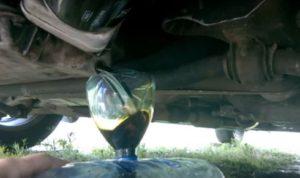 Этапы замены масла в двигателе
