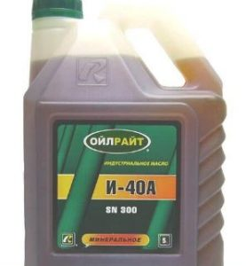 характеристики индустриального масла и-40