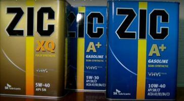 Моторные масла ZIC 10W40: виды