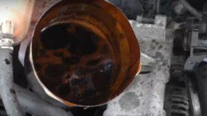 Как удалить лишнее масло из двс