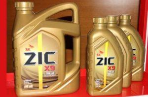 Характеристики масел ZIC