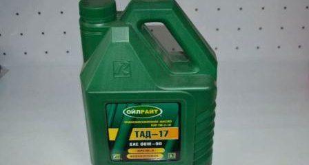 Характеристики масла ТАД-17, применение, совместимость