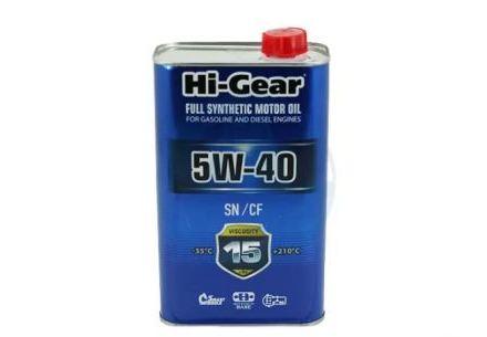 Моторное масло Hi-Gear SAE 5W40