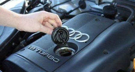 Самостоятельная замена масла в двигателе Ауди А4