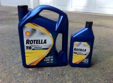 Дизельное масло Шелл Ротелла T6 5W-40