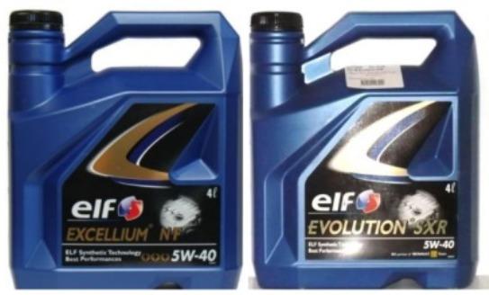 Elf 5W-40: Excellium NF и Evolution SXR