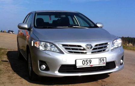Масло в Toyota Corolla 2012 года