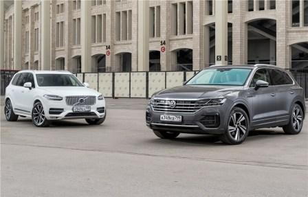 Volkswagen Touareg и Volvo XC90