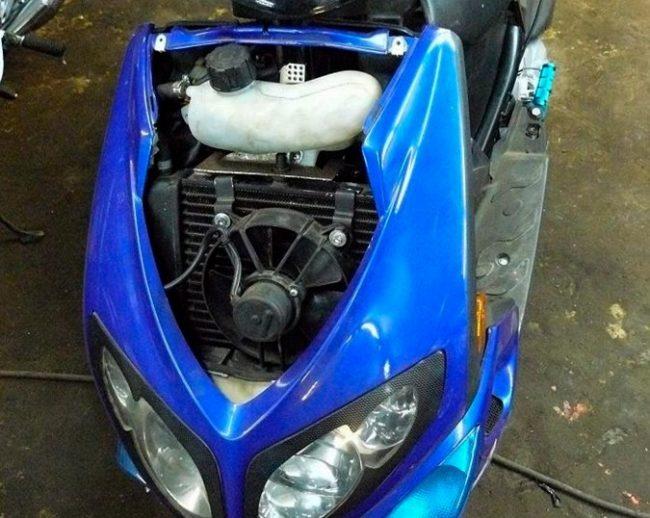 Охлаждение двигателя скутера